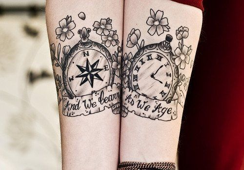 """"""" And we learn as we age """"  (Tattoo)"""