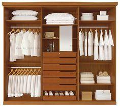 Moderna walk in closet, diseño de vestuario en Armarios de Muebles ...