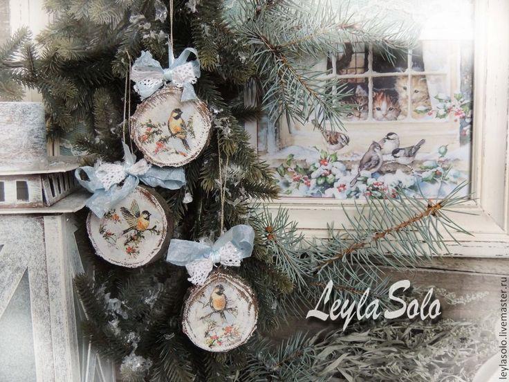 Новый год 2015 ручной работы. Ярмарка Мастеров - ручная работа елочные украшения Подарок на новый год Зима. Handmade.