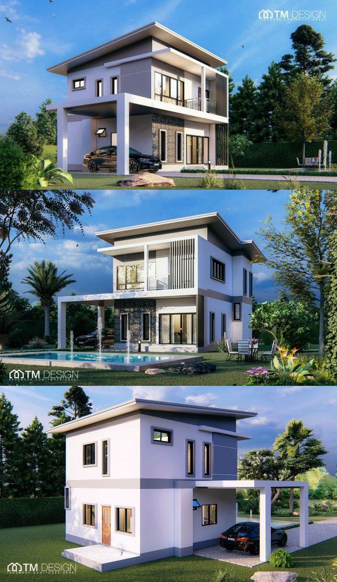 This Modern Two Storey House Design May Give You The Inspiration To Build Your Own Modern Bungalow House Small House Design Plans Model House Plan