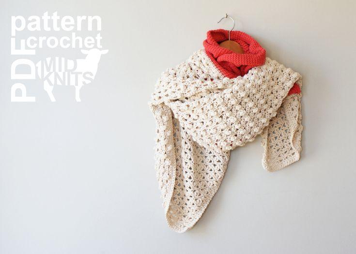 "Midknits: DIY Crochet PATTERN - Learn To Tunisian Crochet Woodland Bird Cross-stitch & Lace Throw Blanket / Blanket Scarf Shawl- 42""x47"" (2016010) by Erin Black"