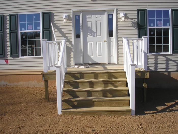 Porch For Double Wide Homes Porches And Decks Stoop With Vinyl Rails Jpg