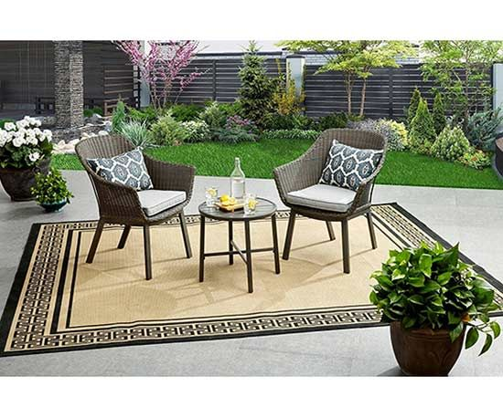 Don't have a large backyard space? That's okay! If you're looking for an outdoor entertaining setup that's both stylish and perfect for a smaller space, Better Homes & Gardens at Walmart has several options for you.