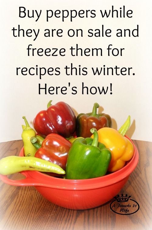 How to Freeze Peppers. cut and freeze on trays. You can buy peppers on sale, or grow them and then freeze for use in recipes this winter