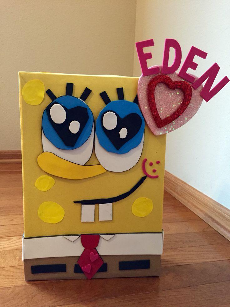 Spongebob Valentine Box Holiday Stuff Pinterest Box