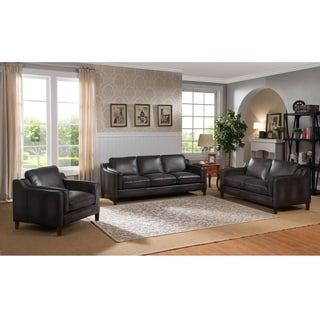 Shop for Ames Premium Hand Rubbed Grey Top Grain Leather Sofa, Loveseat and Chair. Get free shipping at Overstock.com - Your Online Furniture Outlet Store! Get 5% in rewards with Club O! - 18130898