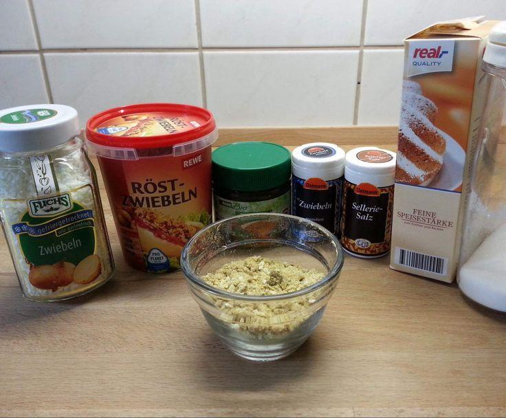 Zwiebelsuppenpulver selbstgemacht