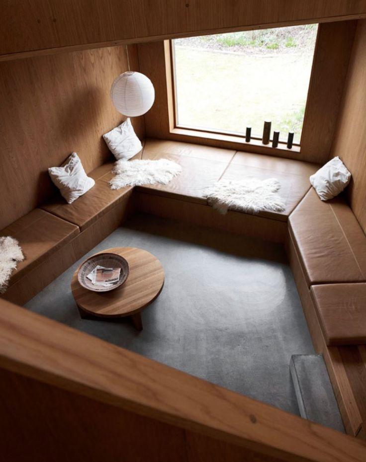 Likes: Cosy wood clad walls