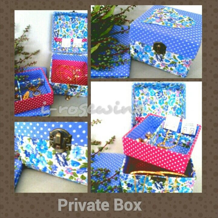PRIVATE  BOX (double) Materials: cotton fabric, hard carton