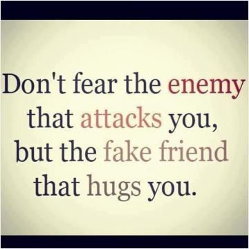 A real situation will always expose a fake friend #PictureQuotes
