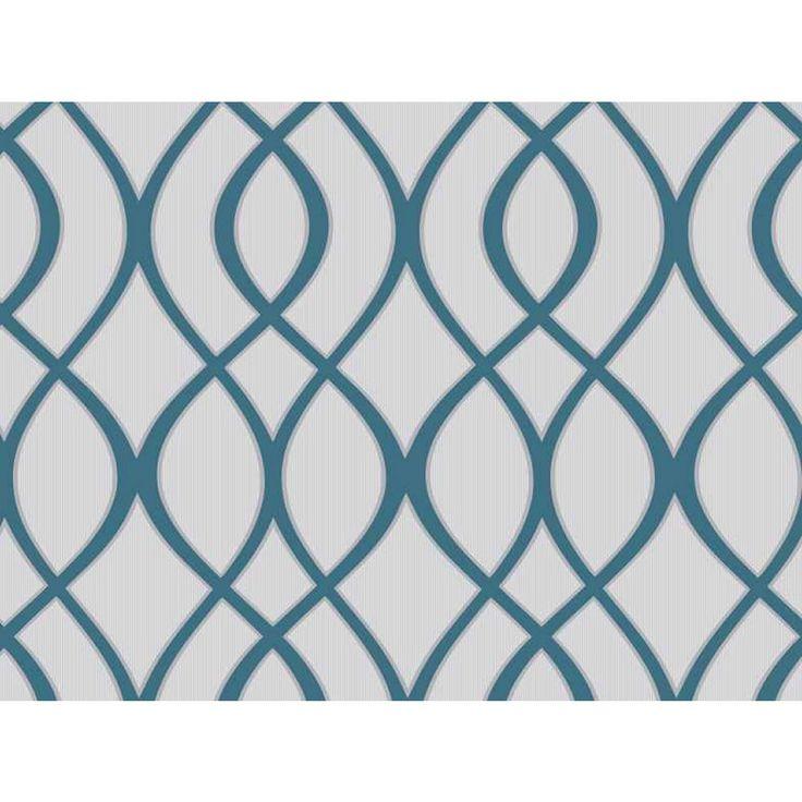 Trellis Background Wallpaper: Wilko Trellis Teal Wallpaper At Wilko.com