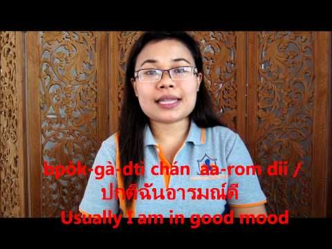 What mood are you in at the moment?   How to talk about moods or emotions in Thai ..a quick introduction   อารมณ์ดี