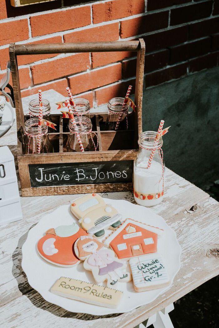 Junie B Jones Inspired Back To School Party Kara S Party Ideas Karas Party Ideas Back To School Party School Parties