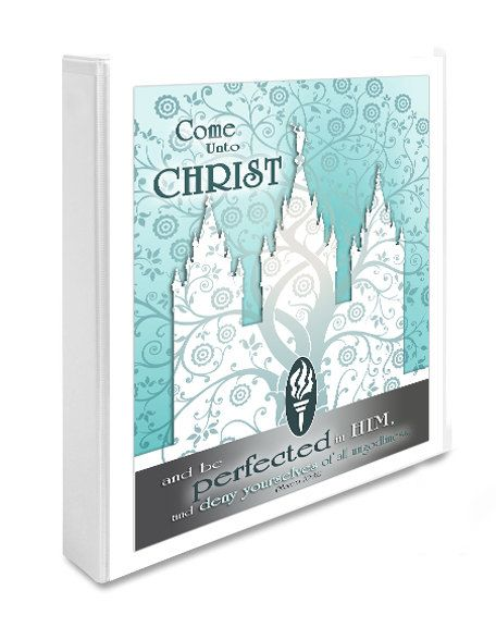 """Printable LDS Temple Art with YW Young Women 2014 Theme Come Unto Christ. 8 1/2"""" x11"""" size. Perfect for DIY Binder cover."""