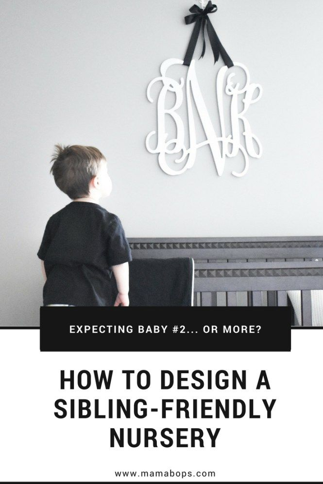 Expecting Baby #2...or more? You need this tutorial on how to create a sibling-friendly nursery! Great advice for shared room for newborn and toddler, shared nursery, or even entertaining toddlers while breastfeeding or working in Baby's nursery. Plus, this baby's room has the cutest wooden play kitchen I've ever seen!