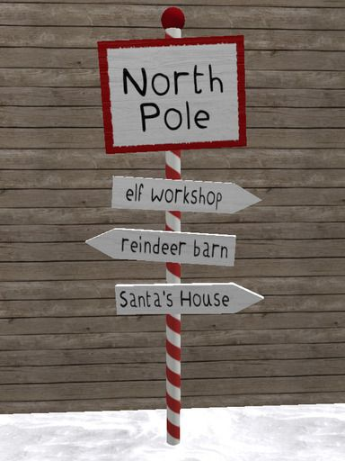 North Pole Sign Post - Christmas Decoration/Candy Cane/Santa/Elf #ChristmasStuffs #NorthPole #Decor