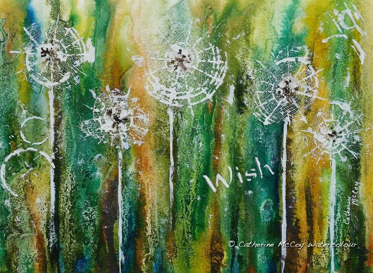 """Wish. Watercolour 8"""" x 10"""" by Catherine McCoy"""