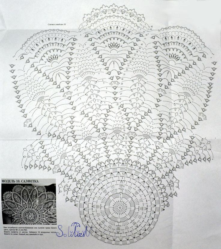 3189 best Crochet pinapples doilie diagrams images on Pinterest ...
