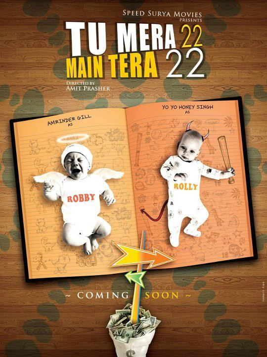 Tu Mera 22 Main Tera 22 is an upcoming Punjabi Movie starring Yo Yo Honey Singh, Amrinder Gill & Mandy Takhar.Amrinder Gill is playing the role as Robby and Yo Yo Honey Singh as Rolly. Film is directed by Amit Prasher and produced by Joy Bir Singh and Dunbir Singh Sidhu.. Cast Amrinder Gill as Robby Yo…