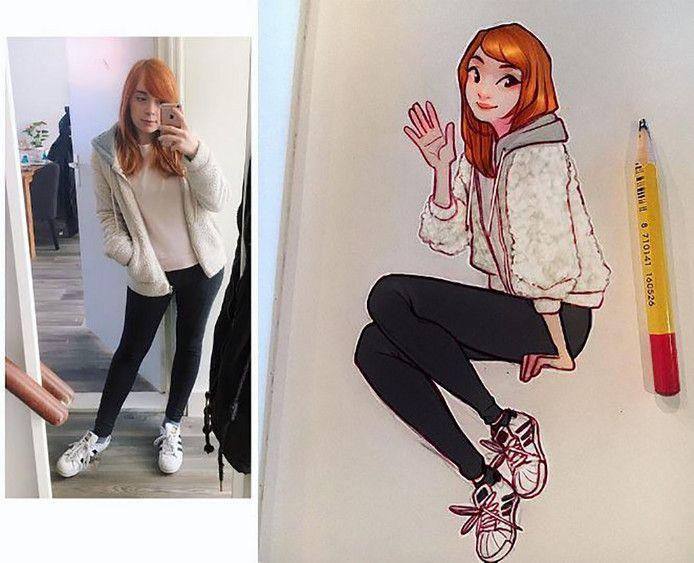 Laura Brouwers (21) heeft meer dan een miljoen volgers op Instagram die haar tekeningen bewonderen.