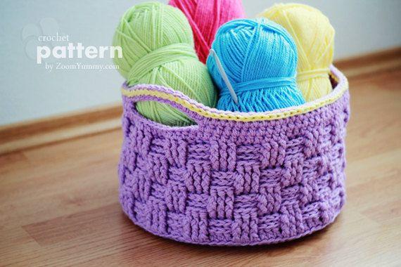 Crochet Pattern  Big Crochet Basket Pattern No. 009  von ZoomYummy