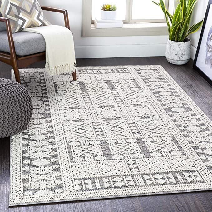 Amazon Com Artistic Weavers Declan Grey Area Rug 2 3 X 3 9 Kitchen Dining Indoor Outdoor Area Rugs Indoor Outdoor Rugs Area Rugs