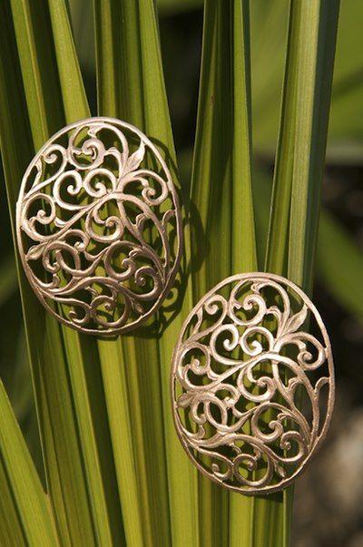 handmade golden earings
