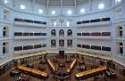 The domed La Trobe Reading Room, State Library, Victoria
