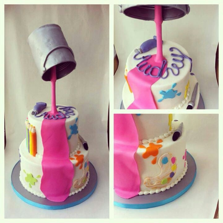 Artist Palette Cake Template : 22 best images about paint cakes on Pinterest Pop art ...