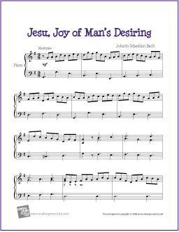 Jesu, Joy of Man's Desiring (Bach) | Free Sheet Music for Piano - http://makingmusicfun.net/htm/f_printit_free_printable_sheet_music/jesu-joy-of-mans-desiring-piano-solo.htm (Scheduled via TrafficWonker.com)