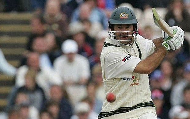Never say die: Ricky Ponting's 156 at OId Trafford in 2005 helped Australia draw the Test