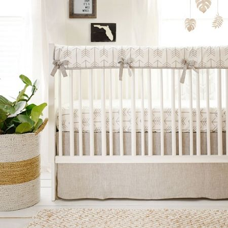 Arrow Neutral Baby Bedding | Be Brave Crib Rail Cover Collection