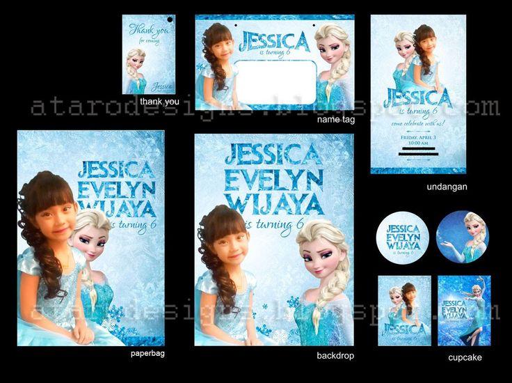 23 best stiker label ulang tahun anak images on pinterest label ataro designs desain ulang tahun anak tema frozen stopboris Gallery