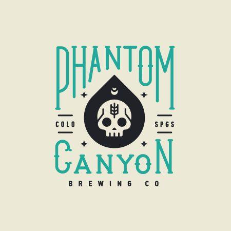 Phantom Canyon Brewing logo design typography