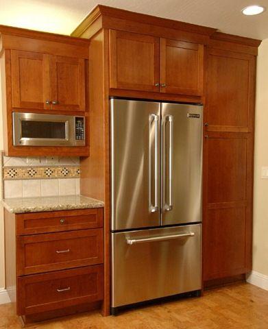 Refrigerator Cabinet Farm House Re Do Pinterest