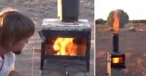This is the most efficient wood stove on the planet! It will make gasoline, run a generator and a propane fridge, heats hot water and your home at the same time. This system works on any dry organic material.