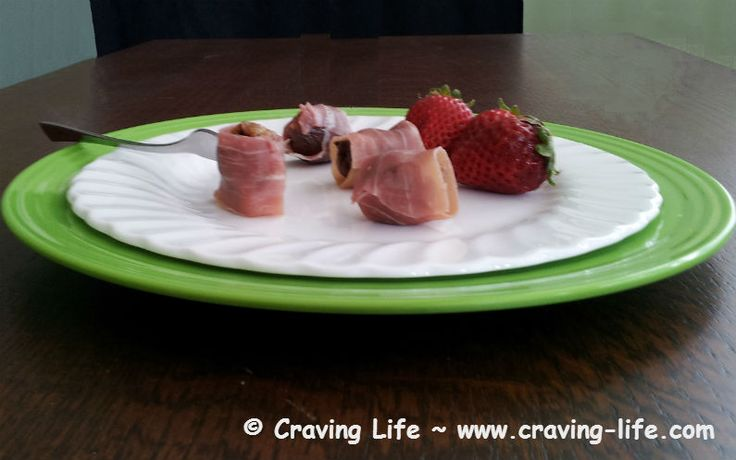 Prosciutto Wrapped Spicy Olives and Figs