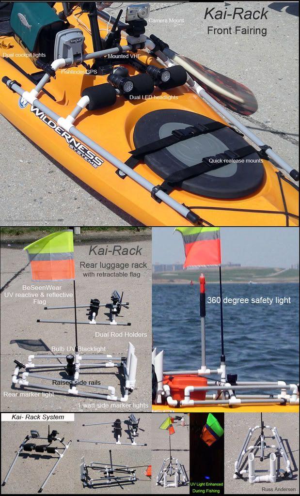 Odin 39 s tarpon 160 kai rack the hole for kayak fishing for Kayak accessories fishing