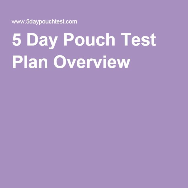 5 Day Pouch Test Plan Overview