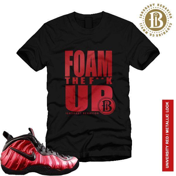 FOAMPOSITE UNIVERSITY RED - FOAM THE F UP - SS / BLK (MEN)