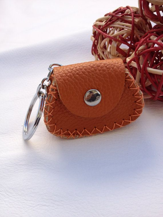 Very Small Vintage Leather Coin purse / Key Ring by JPMysteryTrunk, $9.00