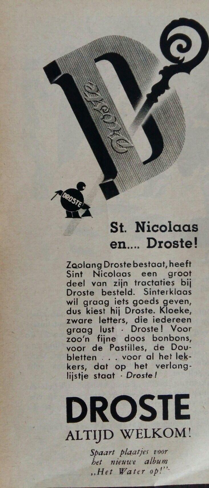 DROSTE Sinterklaas advertentie