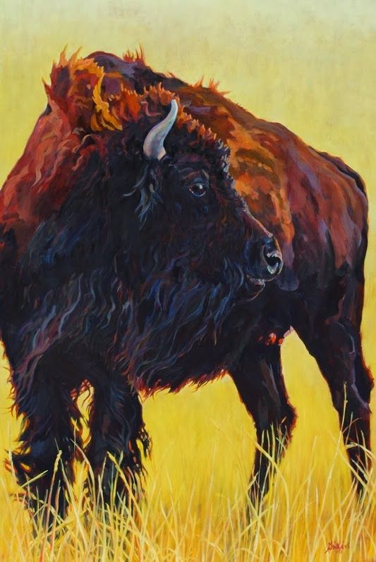 "Bison, Wildlife Art   72""x48"" Oil on Linen/Available   Click HERE to purchase.    View more of my work at http://www.griffingallery.org   ..."