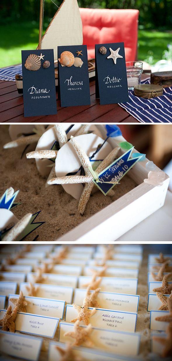 Starfish Escort Cards | WeddingWire: The Blog