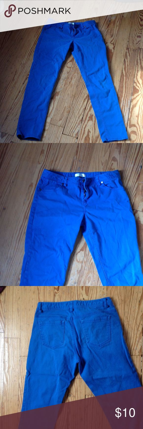 "Royal blue pants Great condition! Inseam is 29"". Kenar Jeans Straight Leg"