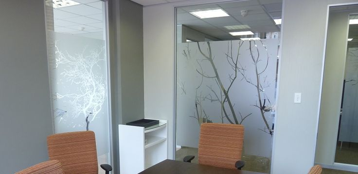 Functional, fashionable and fun – vinyl decals are ideal for glass office partitioning