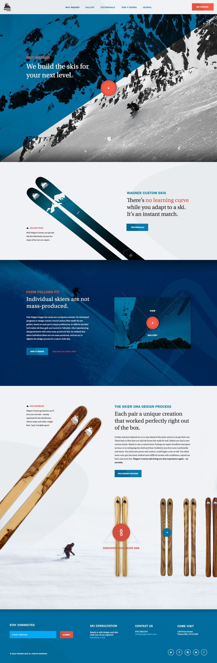 Skis for Your Next Level - Ui design concept and visual style, by Elegant Seagulls