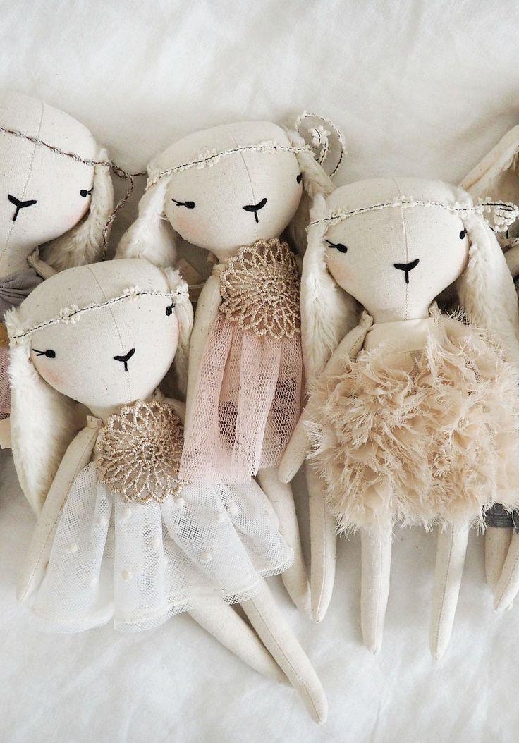 Beautiful Handmade Rabbits by lespetitesmainss on Etsy