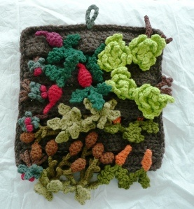 Vegetable garden play mat.