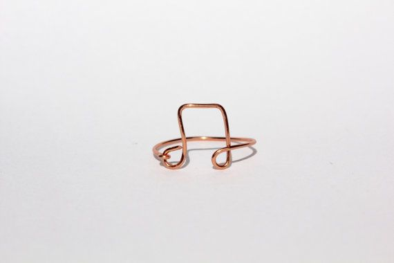 Rose Gold Music Note Wire Ring by MeekAndNeek on Etsy